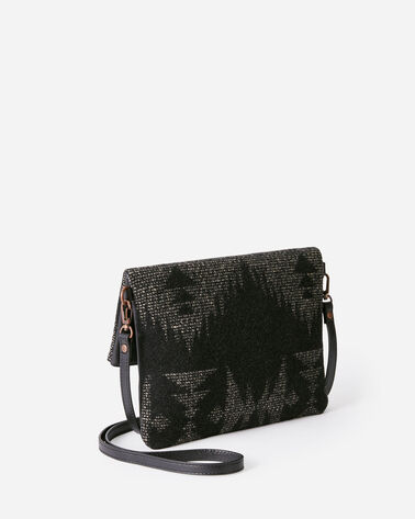 ALTERNATE VIEW OF SONORA FOLDOVER CLUTCH IN BLACK