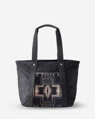 HARDING TOTE, BLACK/TAN, large