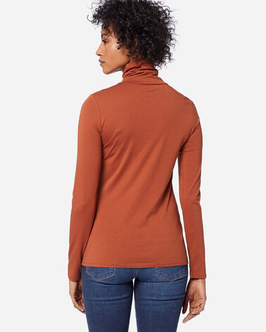 ADDITIONAL VIEW OF LONG-SLEEVE TURTLENECK JERSEY TEE IN PICANTE