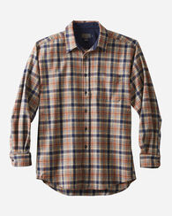 LODGE SHIRT, NAVY/BROWN PLAID, large