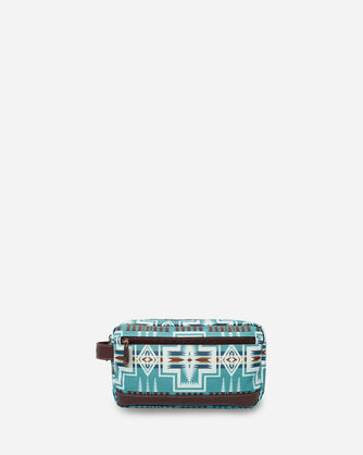 HARDING TOILETRY BAG IN AQUA