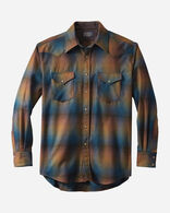MEN'S SNAP-FRONT WESTERN CANYON SHIRT IN BRONZE/COBALT OMBRE