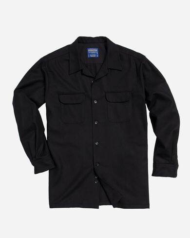 FITTED BOARD SHIRT, BLACK, large