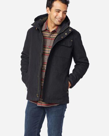 MEN'S BROTHERS HOODED TIMBER CRUISER IN BLACK