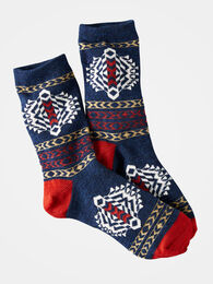 TOLOVANA CREW SOCKS, NAVY, large