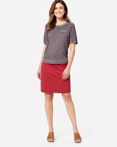 CHINO TWILL SKIRT IN RED ROCK