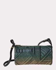 TUMBLING GEMS JACQUARD BARREL BAG, BLACK MULTI, large