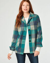 49ER JACKET, TEAL BLOCK PLAID, large