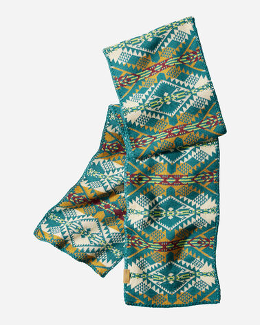 KNIT MUFFLER IN JOURNEY WEST TURQUOISE