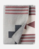 THUNDER QUARREL PIECED QUILT SET IN GREY