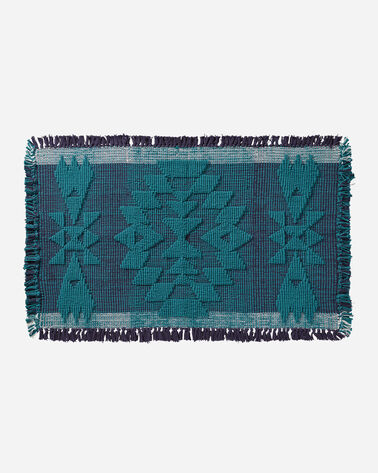 TUCSON BATH MAT IN TURQUOISE/NAVY