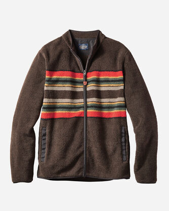 MEN'S CAMP STRIPE ZIP-FRONT