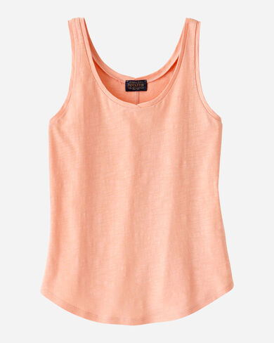 WOMEN'S COTTON SLUB TANK IN CORAL PINK