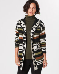DESERT STRIPE HOODED CARDIGAN
