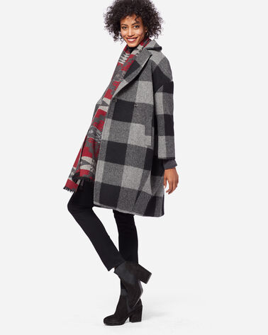 ROB ROY COCOON COAT, GREY/BLACK, large