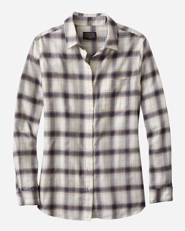 FAVORITE FLANNEL SHIRT, ANTIQUE WHITE PLAID, large