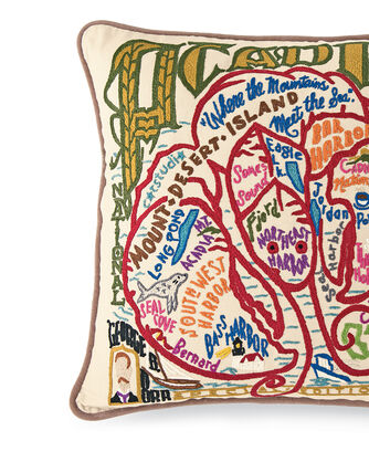 ADDITIONAL VIEW OF ACADIA PARK PILLOW IN MULTI