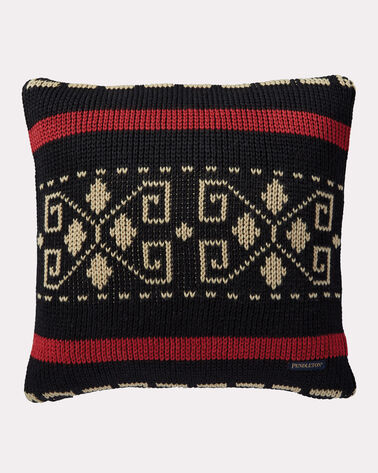 WESTERLEY KNIT PILLOW, BLACK, large