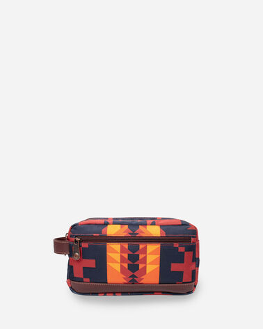 SPIDER ROCK TOILETRY BAG IN RUST/NAVY