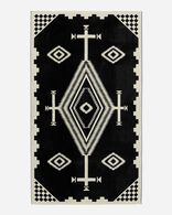 LOS OJOS SPA TOWEL IN BLACK/WHITE