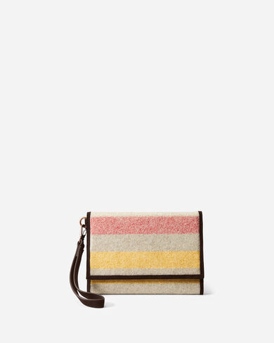 GLACIER STRIPE TRIFOLD SMARTPHONE WALLET IN IVORY
