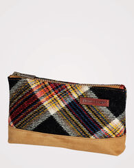ACADIA ZIP POUCH, ACADIA PLAID, large