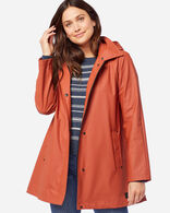 WOMEN'S SONOMA WATERPROOF RAIN JACKET IN RUST