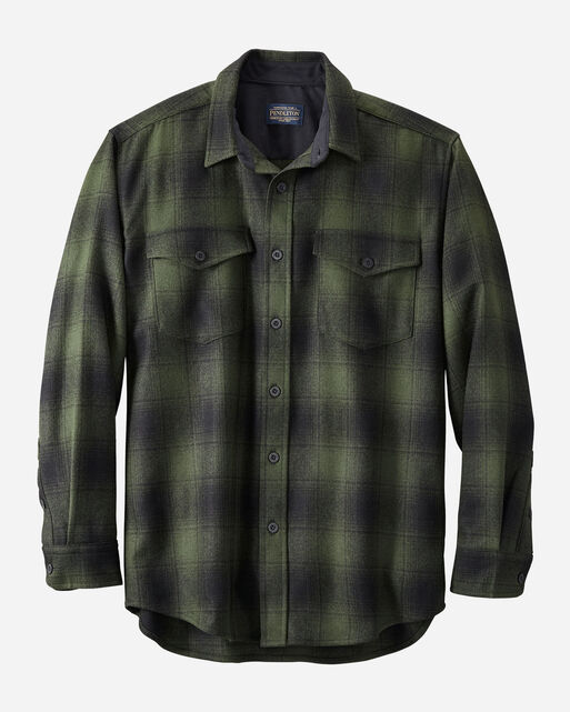 GUIDE SHIRT IN OLIVE/BLACK PLAID