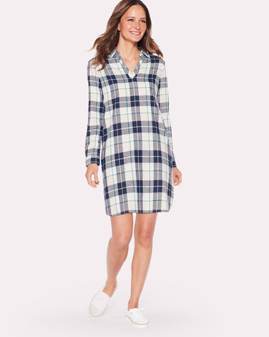 POPOVER PLAID DRESS