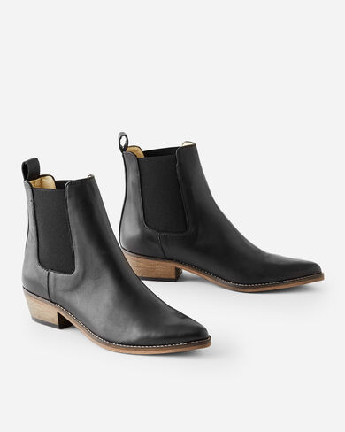 STELLA POINTY ANKLE BOOTS, BLACK, large