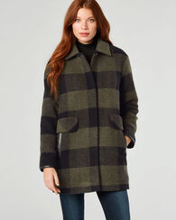 PENDLETON SIGNATURE PAUL BUNYAN COAT, OLIVE BUFFALO, large