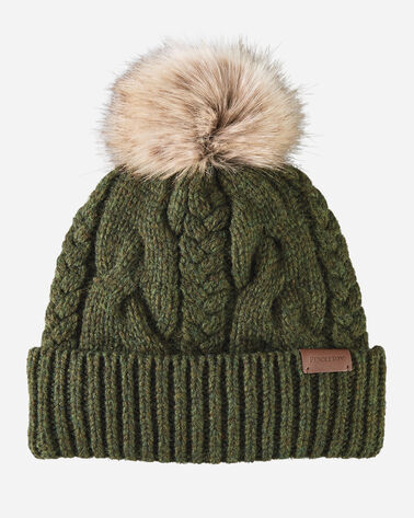 CABLE HAT IN EVERGREEN