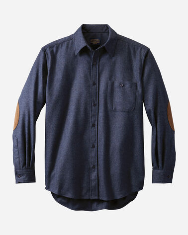 FITTED ELBOW-PATCH TRAIL SHIRT, , large