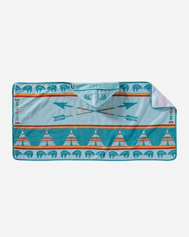 STAR GUARDIAN HOODED TOWEL, TURQUOISE, large