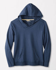 FRENCH TERRY HOODIE, INDIGO, large