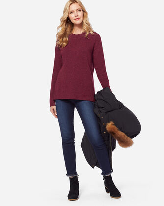 PARKDALE PULLOVER, CHERRY FLECK, large