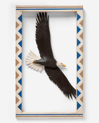 FRAMED FLYING EAGLE IN MATCHES BINDING