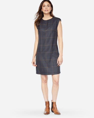 CHARLI SHIFT DRESS, BLUE PLAID, large