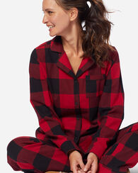 FLANNEL PJ SET, RED/BLACK BUFFALO PLAID, large