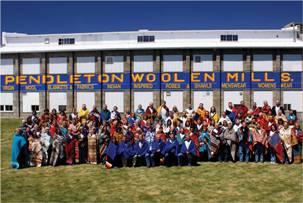 Pendleton Employees Outside Pendleton Mill circa 2000