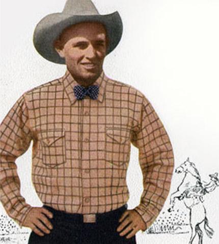 Vintage Photo of Man in Pendleton Shirt