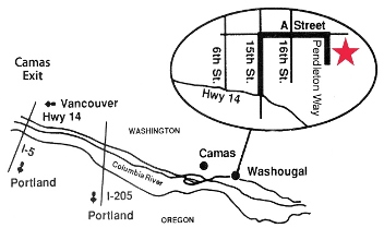 Map Showing Location of Washougal Mill Store