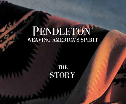 pendleton, jacquard blanket, woven blanket, blanket on mill, american made