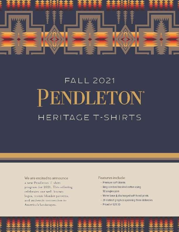 Pendleton Men's Heritage Tees Fall 2021 Linebook