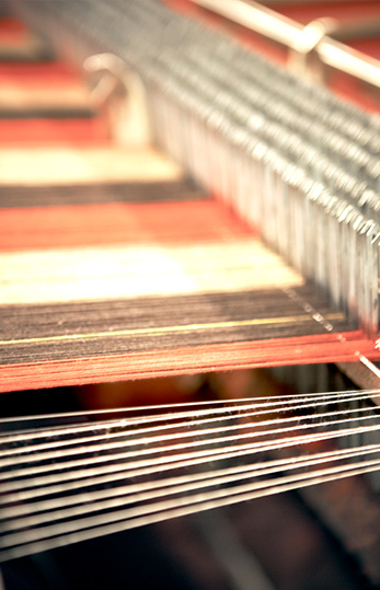 Close Up Of Loom Ready to Weave