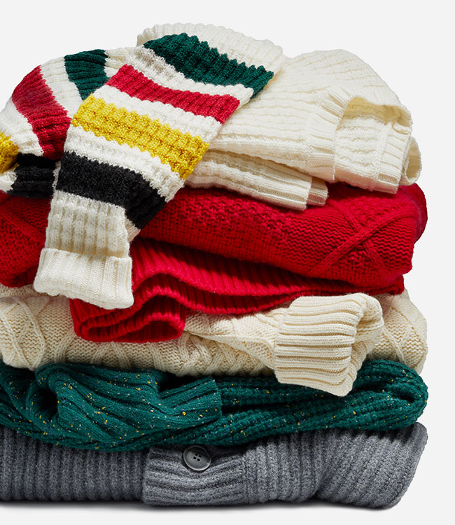stack of women's sweaters