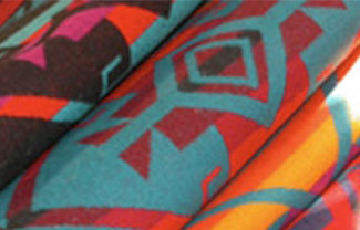 Close Up Of Pendleton Fabric Patterns