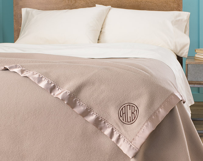Blanket Showing Monogramming Example