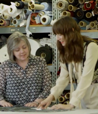 Pendleton Designers Looking at Fabrics