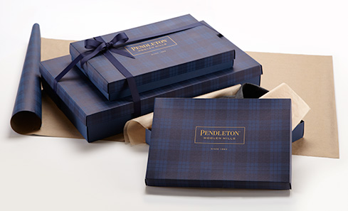 Gift wrap pendleton just 5 send your gift with a personalized message in an embossed box with tissue paper and a ribbon band larger items are gift wrapped and tied with a negle Images